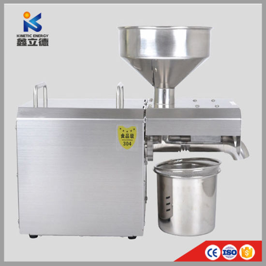 Automatic Expeller Small Extractor Home Use Mini Oil Press Machine for Sesame, Peanut, Sunflower