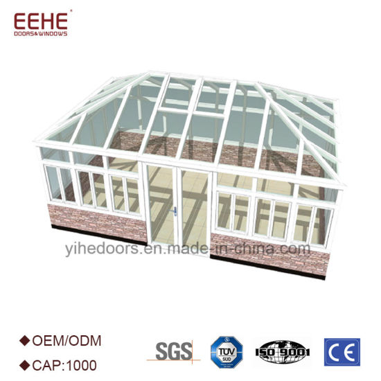 China Portable White Aluminium Frame Sunroom with Tempered Glass ...