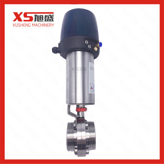 Dn25 Stainless Steel AISI304 Thread Butterfly Valves with Control Head