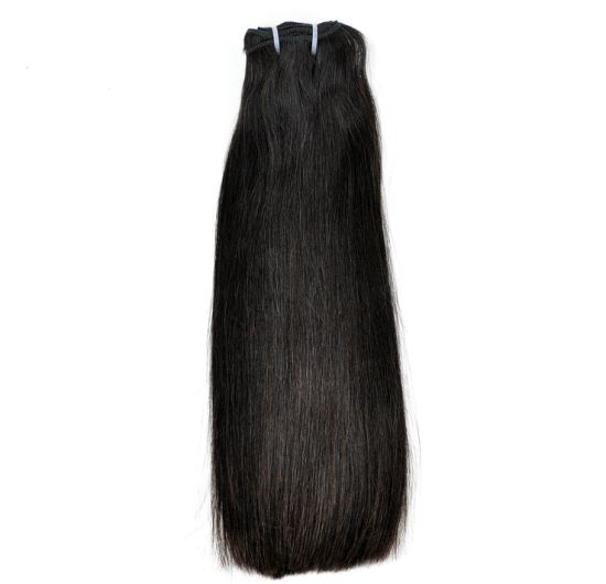 Brazilian Super Double Drawn Virgin Human Hair Weft (Thick Straight)