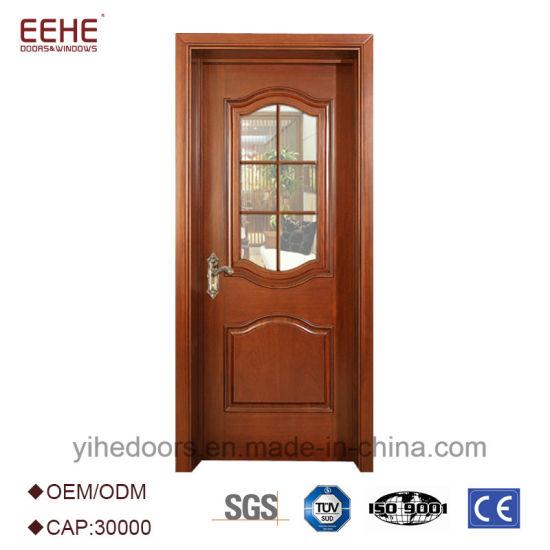 Cheap Simple Design Lattice Wooden Doors with Glass  sc 1 st  Guangdong EHE Doors \u0026 Windows Industry Co. Ltd. & China Cheap Simple Design Lattice Wooden Doors with Glass - China ...