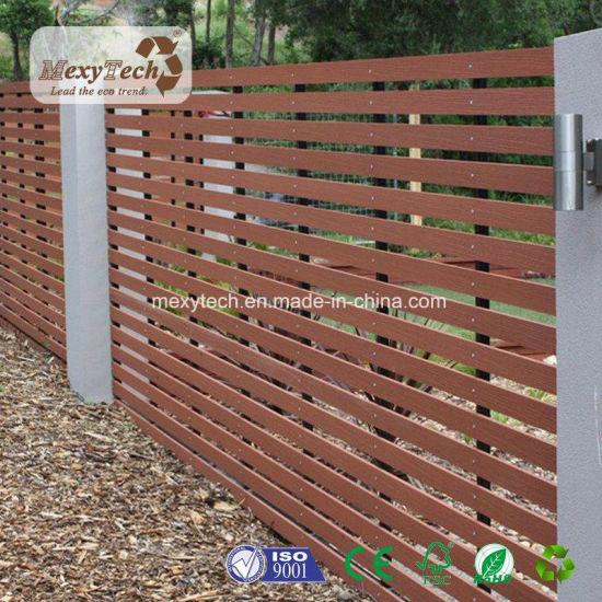 Lakeside Garden Park Composite Wood Slat WPC Fence