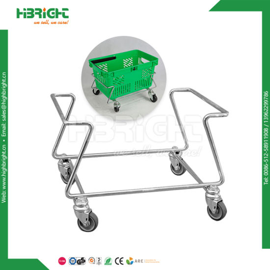 Single Handle Wire Oval Shopping Basket Holder pictures & photos