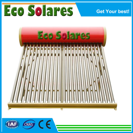Compact Low Pressure Solar Water Heater with Color Steel Outer Tank