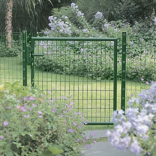 China Supplier Cheap Germany Euro Garden Fences And Gates With Copper Lock Core China Garden Gate Fence Gate