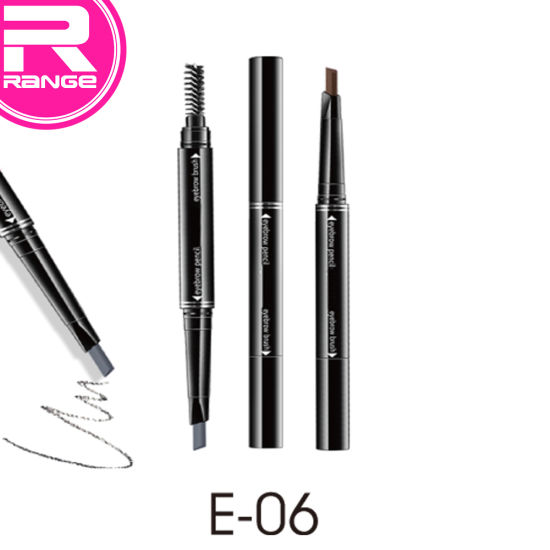 Duo Ended Twist up Eyebrow Pencil with Soft Brow Brush pictures & photos