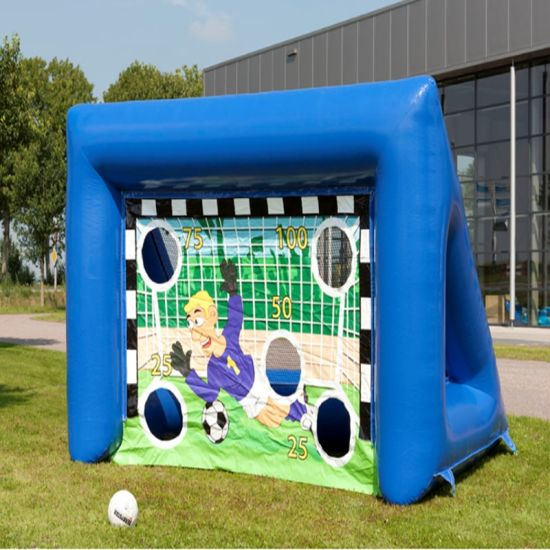 Commercial Sport Games Inflatable Soccer Goal Post for Sale Soccer Customized Inflatable Football Toss Game, Inflatable Rugby Throwing Games for Sale