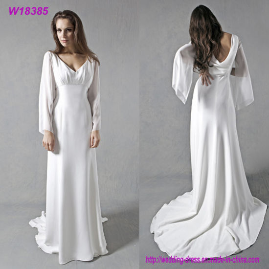 17061489a7bf W18385 Chiffon Simple Bridal Gown Cheap Wedding Dresses Made in China