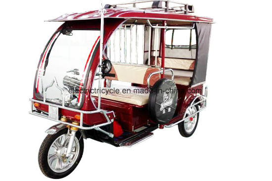 60V 1000W Electric Three Wheeler, Tuk, Passenger Tricycle, Auto Rickshaw pictures & photos