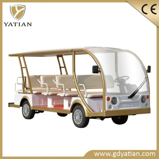 Beautiful Design China 14 Seater Electric Shuttle Bus Sightseeing Car