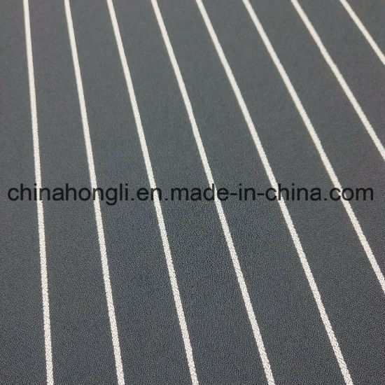 Black&White Stripe Polyester Spandex Fabric for Uniform