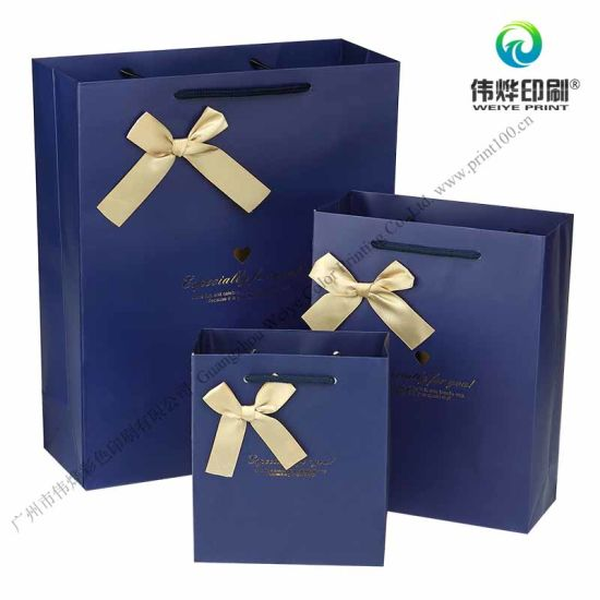 Custom Printing Packaging Die Cutting Paper Bag For Birthday Gift Pictures Photos