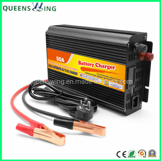 12V 50A Lead Acid Automatic Car Storage Battery Charger (QW-50A)