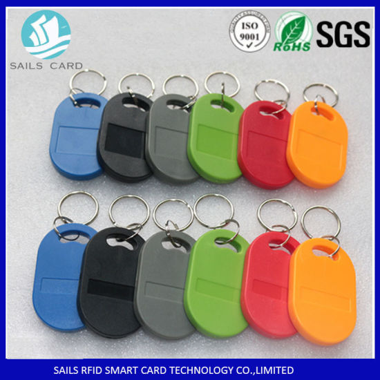 13.56MHz ISO14443A S50 RFID Keyfob Tag with ABS Material pictures & photos