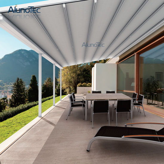 Aluminum Retractable Garden Canopy Top Roof Awning