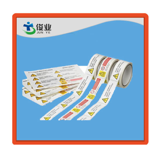 Cmyk Color Printing Label/Customized Notice Safety Sticker