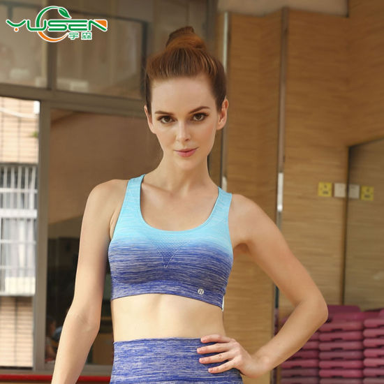 6f0054e4ecb58 Best Quality Custom Gym Clothing Women Active Wear Wholesale Sexy Strappy  Back Design Women Sports Bra