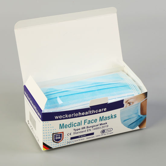 Wholesale Ce Disposable 3 Ply Protective Facial Face Type Iir Surgical Medical Mask