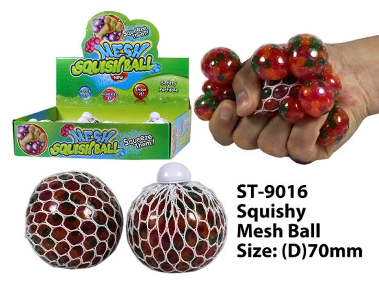 Hot New Funny Squishy Mesh Ball& Squeeze Toy with Beads Ball Toy pictures & photos