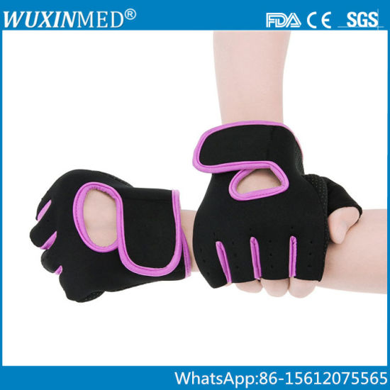 Athletic Hafl Finger Weightlifting Gym Gloves for Cycling