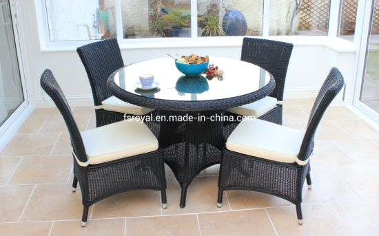 Wholesale Garden Furniture Outdoor Rattan Furniture Dining Set Hotel Aluminum Table & Chairs Set Patio Dining Furniture