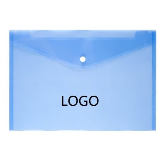 Logo Printing A4 Clear PP Document Bag Paper File Folder Schooa4 Clear PP Document Bag Paper File Folder School Office Supplies File Holder Student Award Gifts