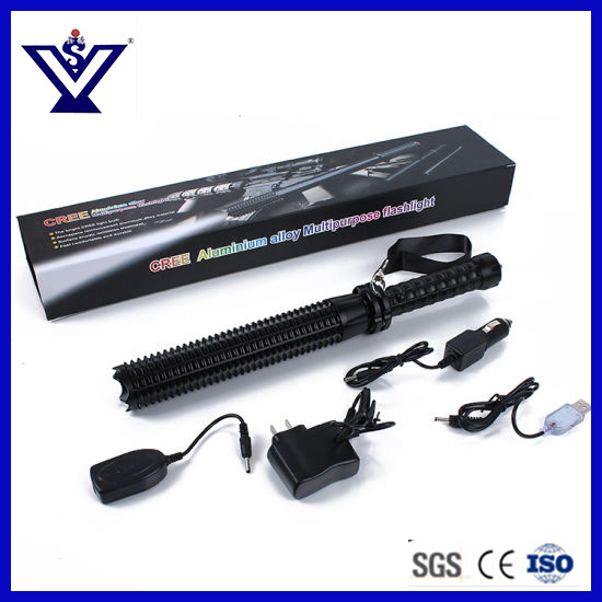 LED Tactical Police Flashlight High Power LED Torch for Military (SYSG-158) pictures & photos