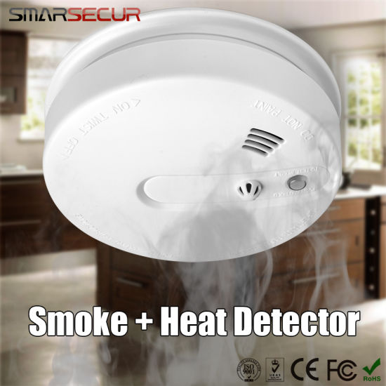 Wireless Heat/Smoke Sensor Temperature Sensor Alarm Detector for GSM Alarm