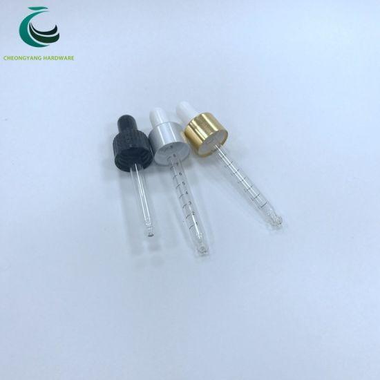 18/410 20/410 22/410 Glass Pipette Aluminium Dropper Cap with Rubber Head