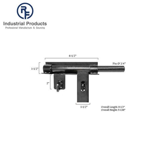 """RF 6-1/2"""" OEM Style Heavy Duty Double Lockable Bar Gate Latch"""