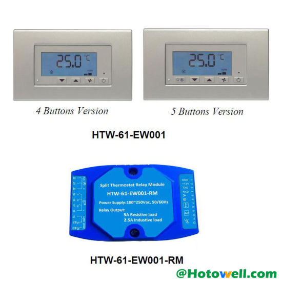China HVAC Digital Remote Air Conditioning Thermostat with