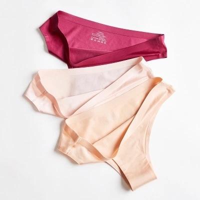 Invisible Ice Silk Sexy Lingerie Seamless Women Bikini Underwear Sexy Underwear