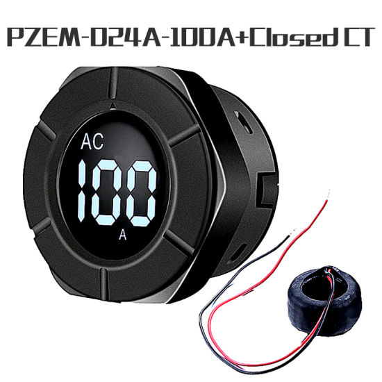 Peacefair Round LCD Wholesale Electricity Meter Current Meter 30-500V 100A