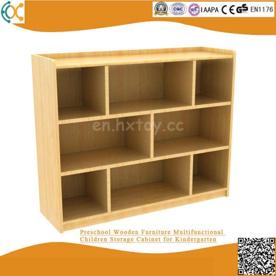 Preschool Wooden Furniture Multifunctional Children Storage Cabinet for Kindergarten