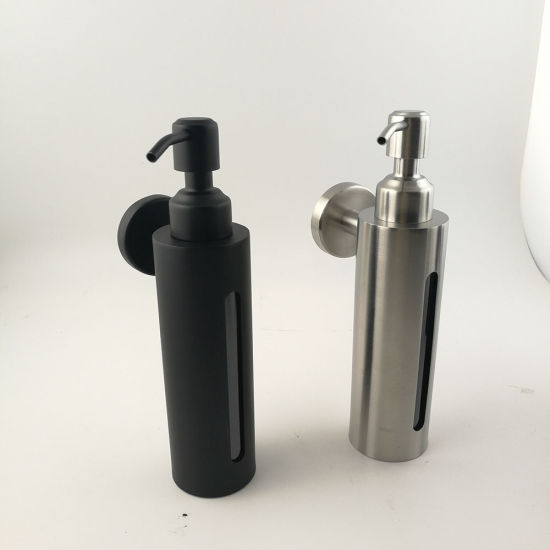 Professional Factory Direct Kitchen Sink Stainless Steel Liquid Soap Dispenser with Plastic Bottle pictures & photos