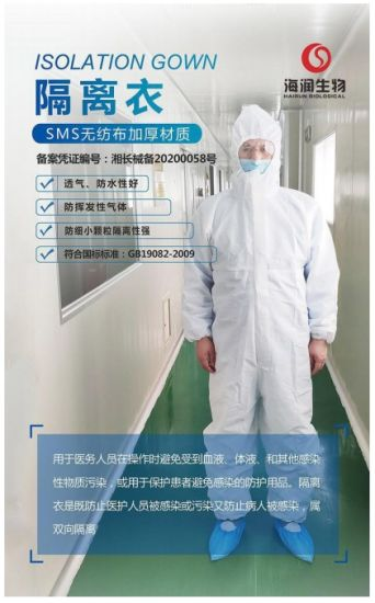 High Quality Disposable Medical Isolation Clothing