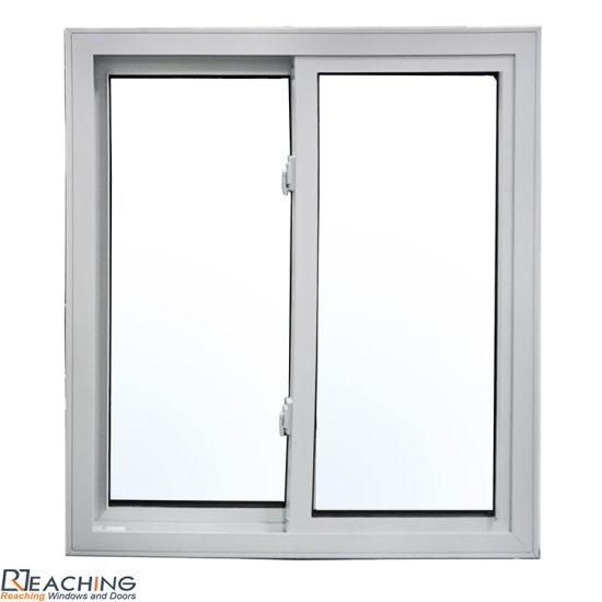 Economic End UPVC/PVC Profile Window White Color Sliding Window for Bulk Order