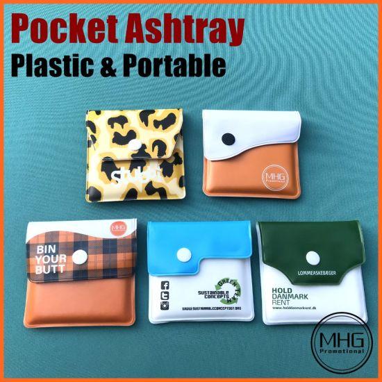 Plastic Portable Pocket Ashtray