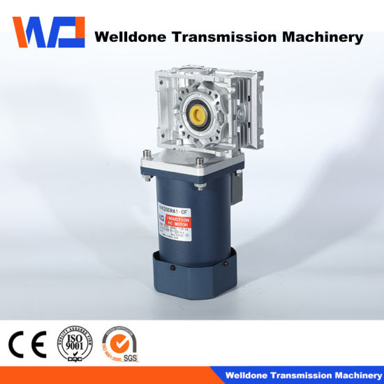 90mm 3-Phase 60W AC Right Angle Gear Motor High Power Electric Motor for Transmission/ Brushless
