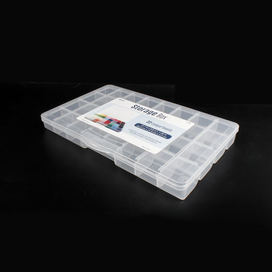 21989 Plastic Bead Storage Box with 32 Stackable Compartments