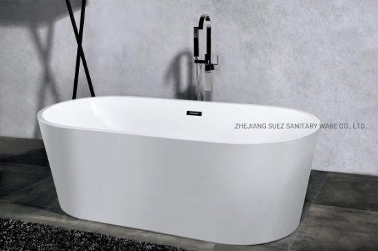Oval Shape Freestanding Soaking Bathtub for Bathroom