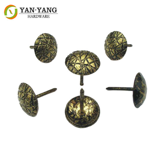 16mm Hammered Design Furniture Accessory Upholstery Decorative Furniture Nail Heads