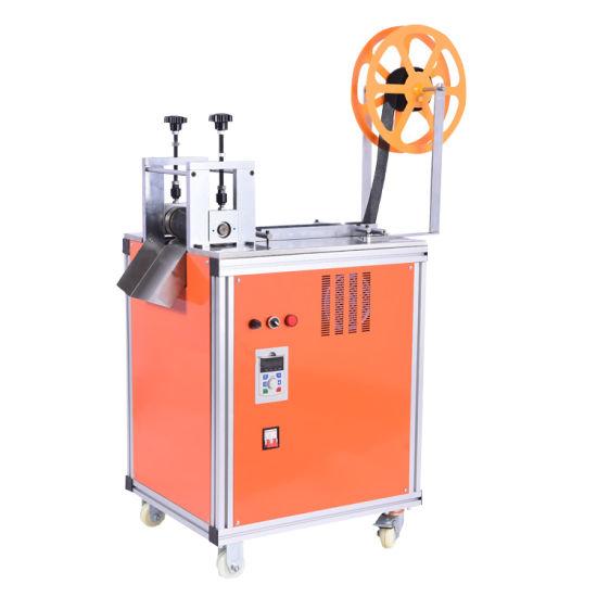 Wl-C120/M200-M800 Full Automatic Ultrasonic Hook & Loop Velcro Fabric Tape Rolling Cutting Machine Tape Pattern Cutting Machine