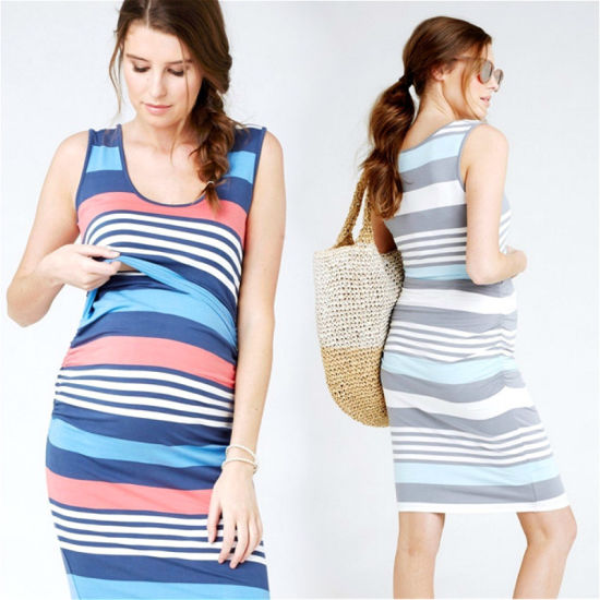 China Hot Sale Casual Women S Striped Maternity Dress China Maternity Wear And Women Clothes Price