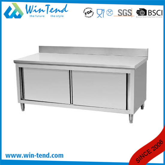 China Customized Stainless Steel Enclosed Work Table Cabinet For - Enclosed stainless steel work table