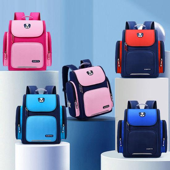 New Children's Space Bag to Reduce The Burden and Waterproof / 1-3-6 Grade Primary School Bag Custom Printed Logo Backpack