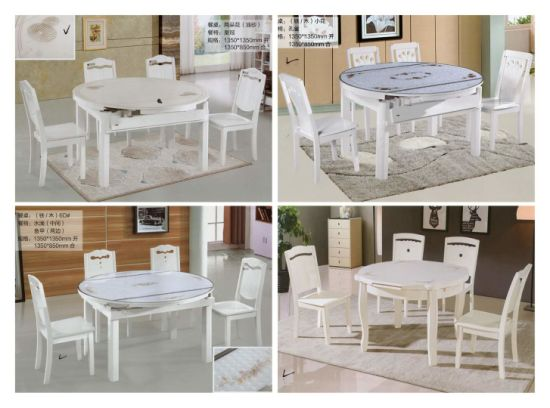 Home Hotel Furniture Modern European Dining Table Set Restaurant Marble Table