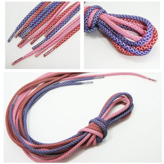 Wholesale Fashionable Custom Logo Sublimation Reflective Flat/Round Nylon/Polyester Sports Shoelace