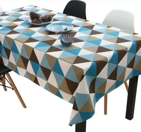 Triangle Cotton Linen Coffee Tablecloth