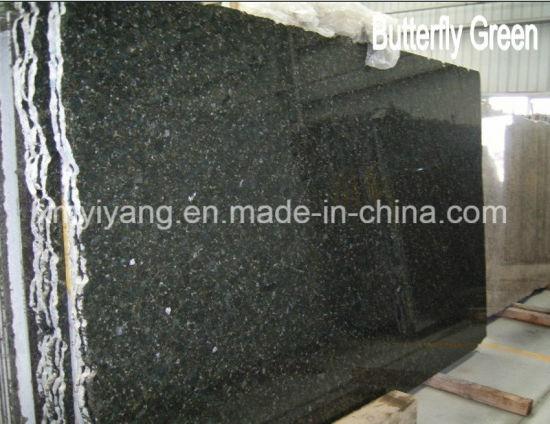 Verde Butterfly Green Granite Stone Slab for Countertop/Worktop/Tiles/Wall